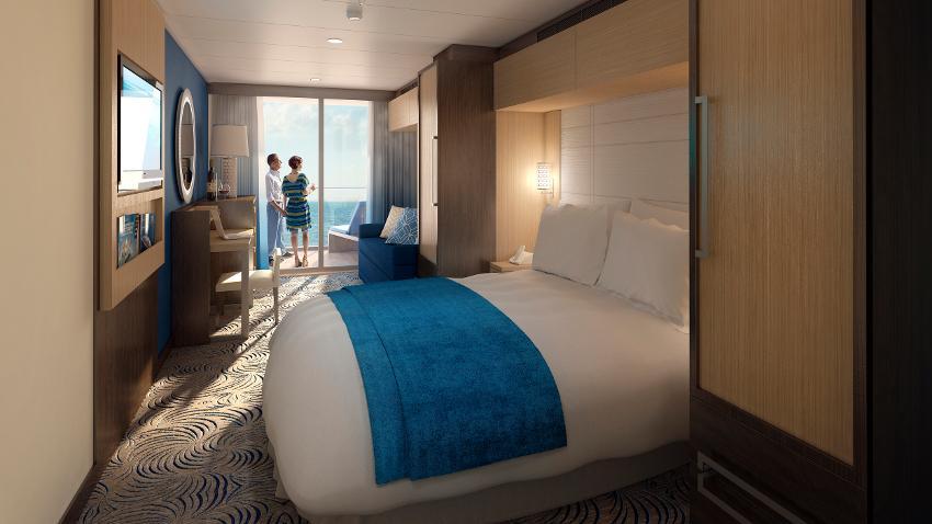 """Каюта с балконом """"Ocean View connected Stateroom with Balcony"""""""