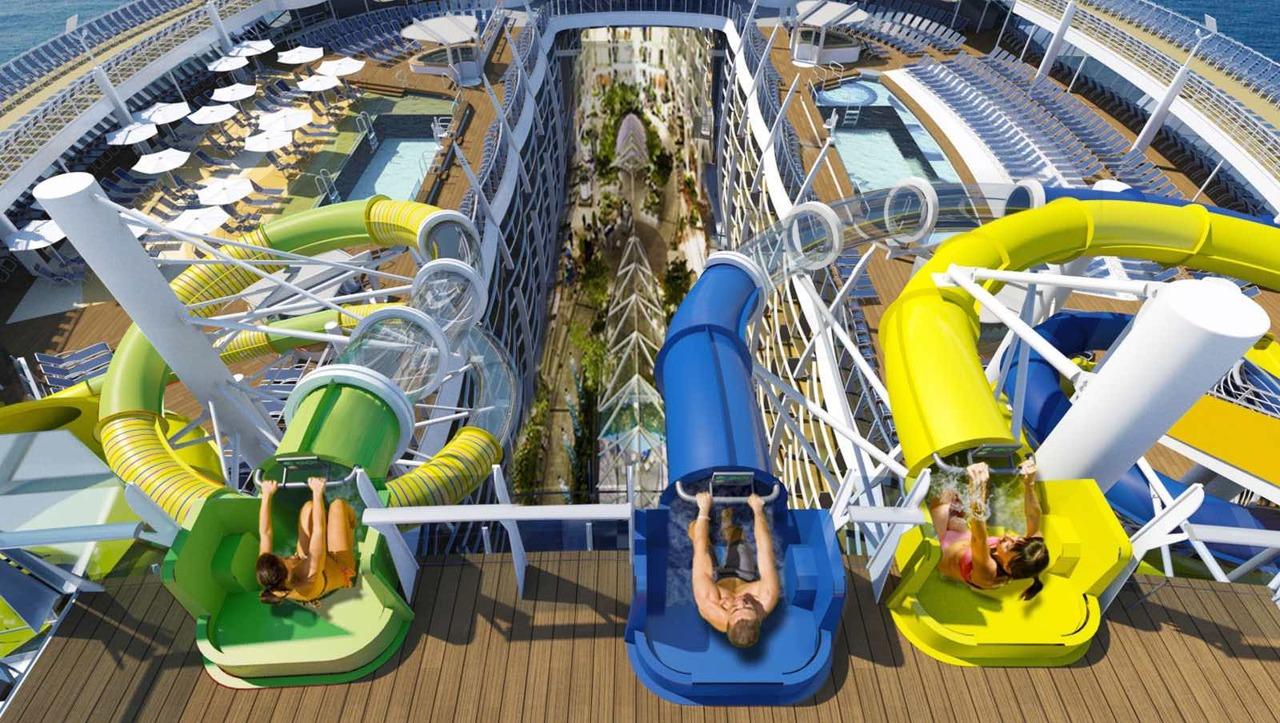 Круизный лайнер Harmony of the Seas - Водные горки