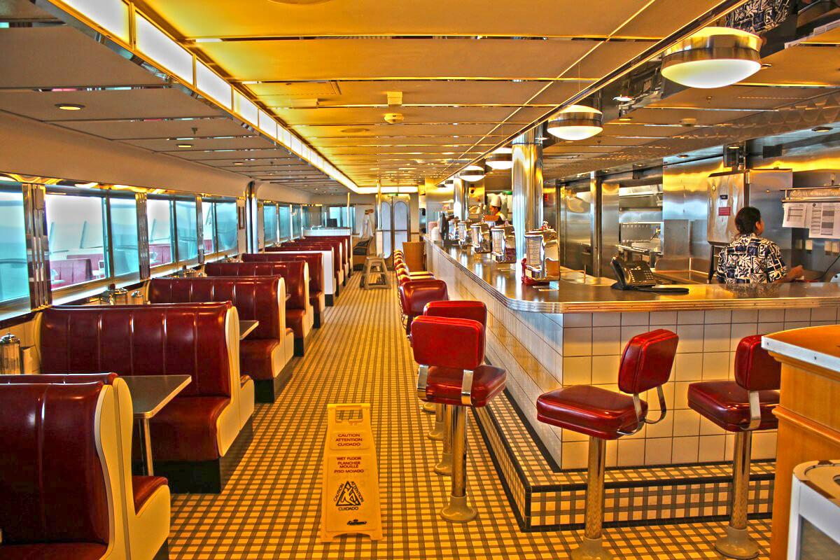 Круизный лайнер Liberty of the Seas - Ресторан Johnny Rockets (JohnnyRockets)