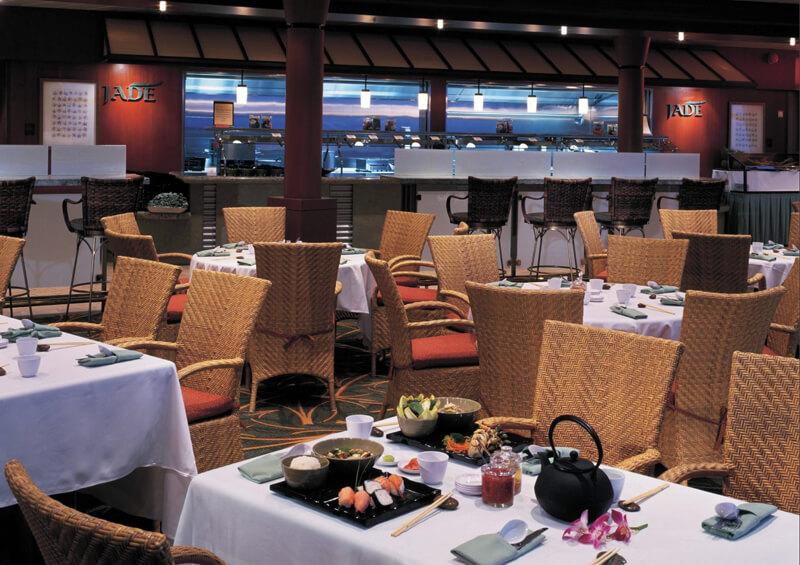 Круизный лайнер Navigator of the Seas - Японский ресторан (Jade Dine)