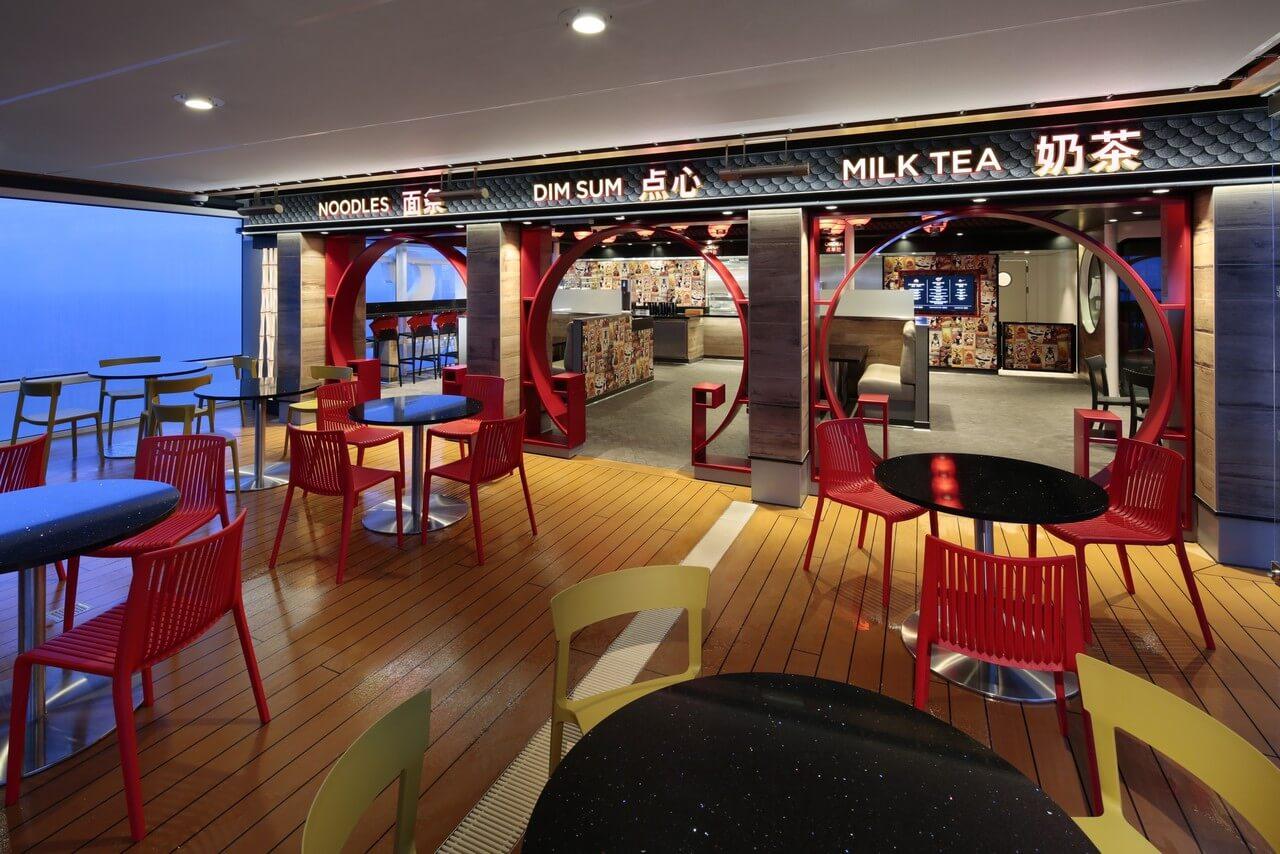 Круизный лайнер Ovation of the Seas - Азиатский ресторан Kung Fu Panda