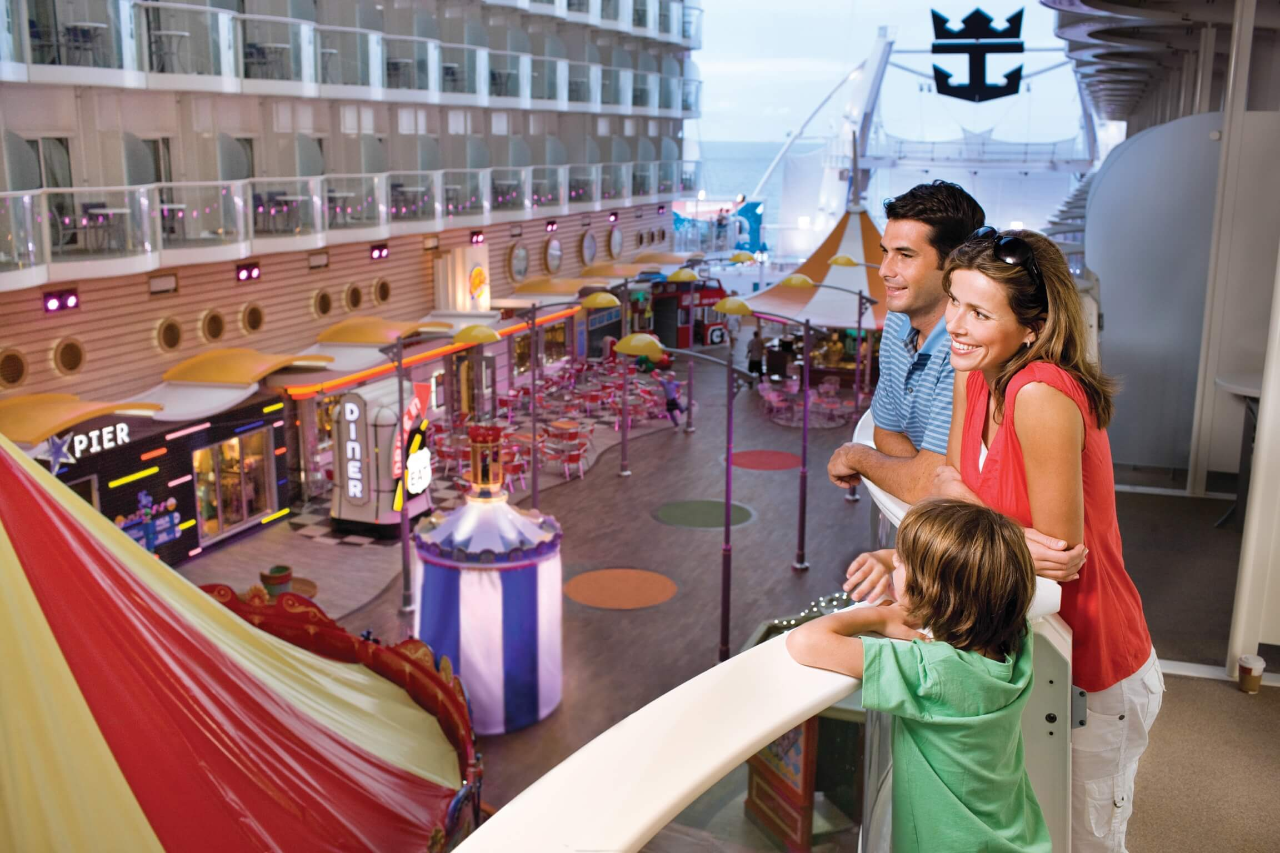 Круизный лайнер Allure of the Seas - Прогулочная палуба (Boardwalk)