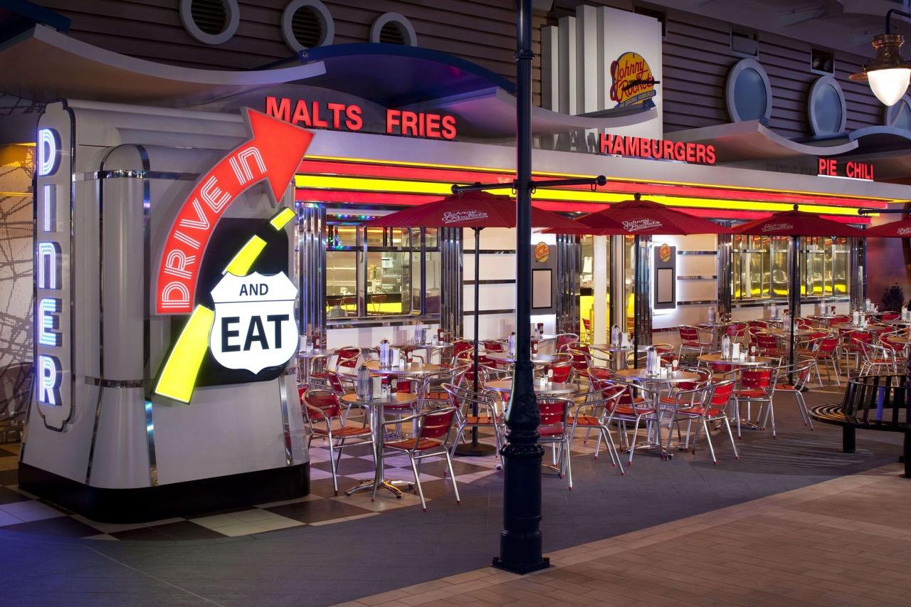 Круизный лайнер Allure of the Seas - Ресторан Johnny Rockets (Johnny Rockets)