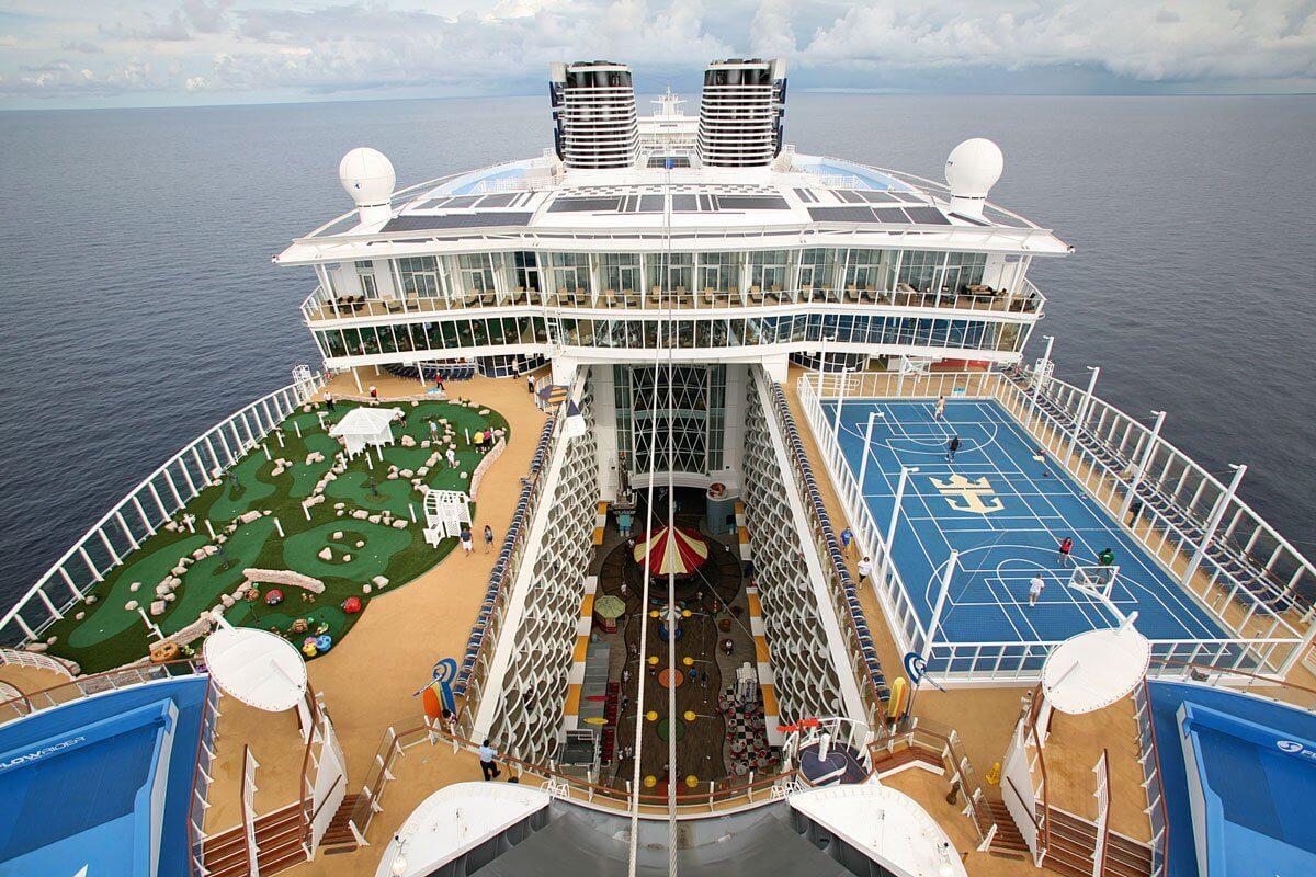 Круизный лайнер Allure of the Seas - Вид на спортивную палубу (Sport Deck)