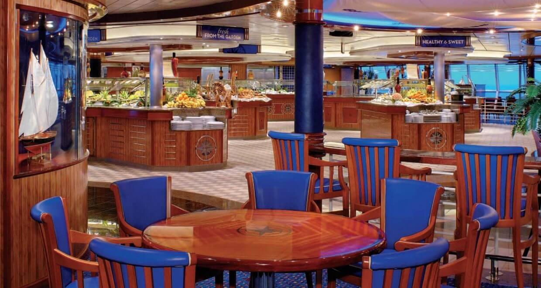Круизный лайнер Radiance of the Seas - Шведский стол (Windjammer)