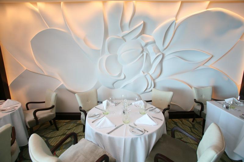 Круизный лайнер Celebrity Eclipse - Ресторан Blu (для пассажиров кают категории Aqua class)