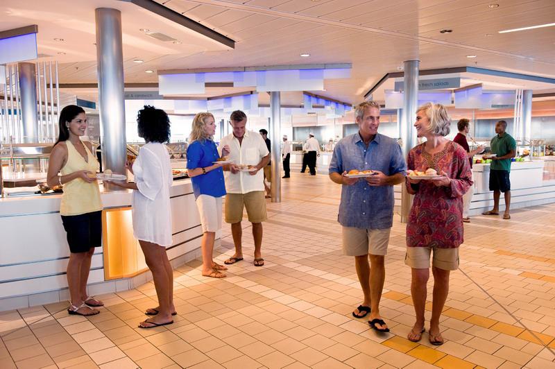 Круизный лайнер Celebrity Equinox - Кафе (Oceanview Cafe)
