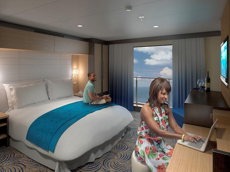 Круизный лайнер Anthem of the Seas - Каюта с виртуальным балконом