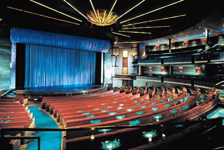 Круизный лайнер Celebrity Infinity - Театр (Onboard Theater)