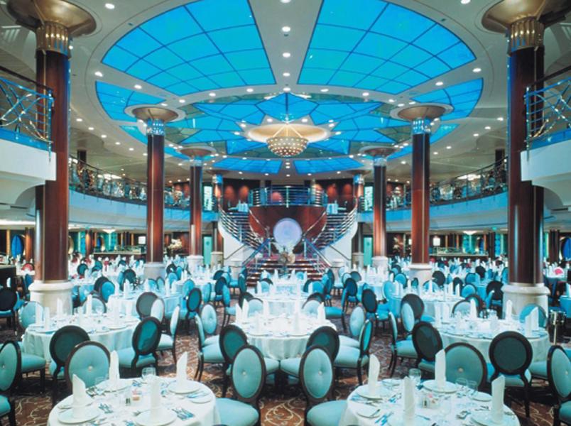 Круизный лайнер Celebrity Infinity - Основной ресторан (Trellis Restaurant)