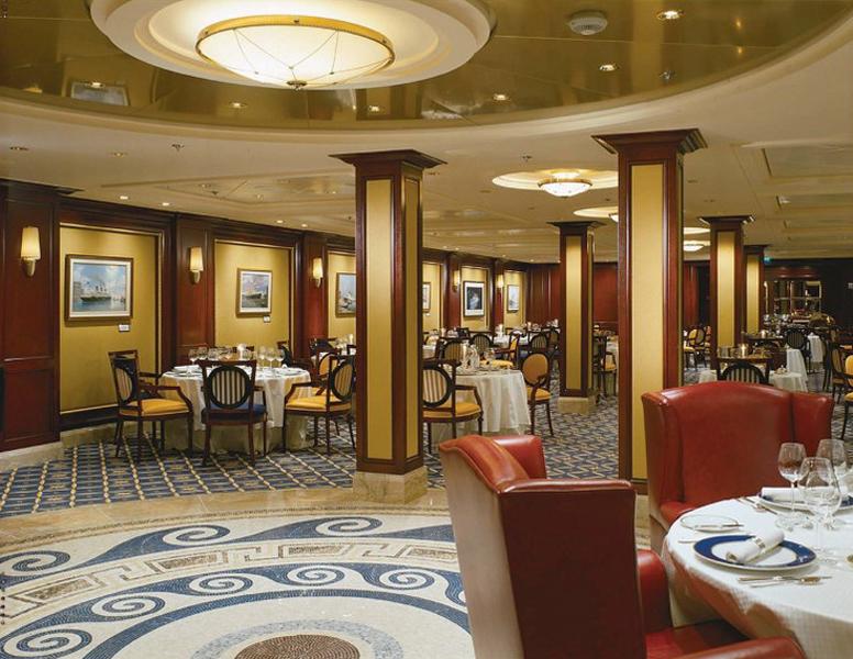 Круизный лайнер Celebrity Infinity - Ресторан Океан (Ocean Restaurant)