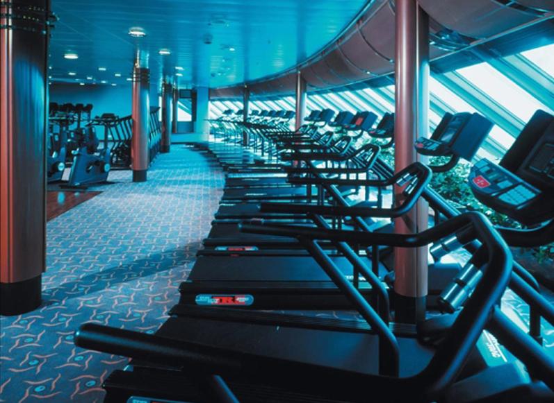 Круизный лайнер Celebrity Infinity - Тренажерный зал (Fitness Center)