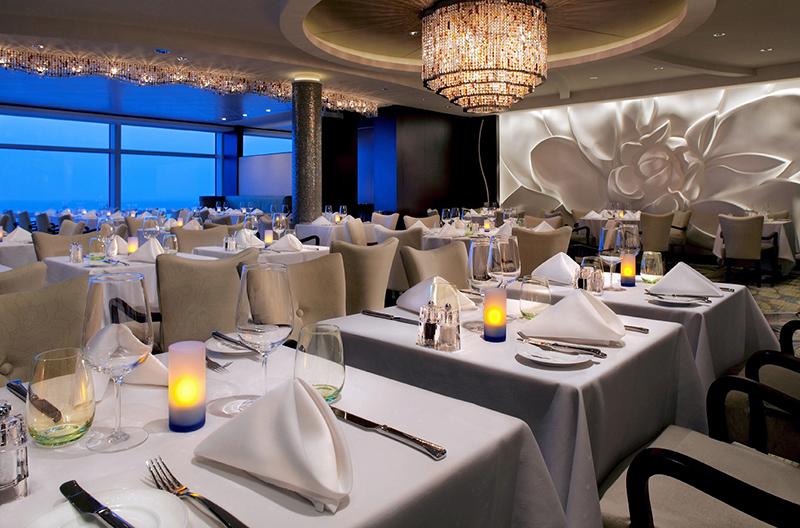 Круизный лайнер Celebrity Reflection - Эксклюзивный ресторан Blu Restaurant