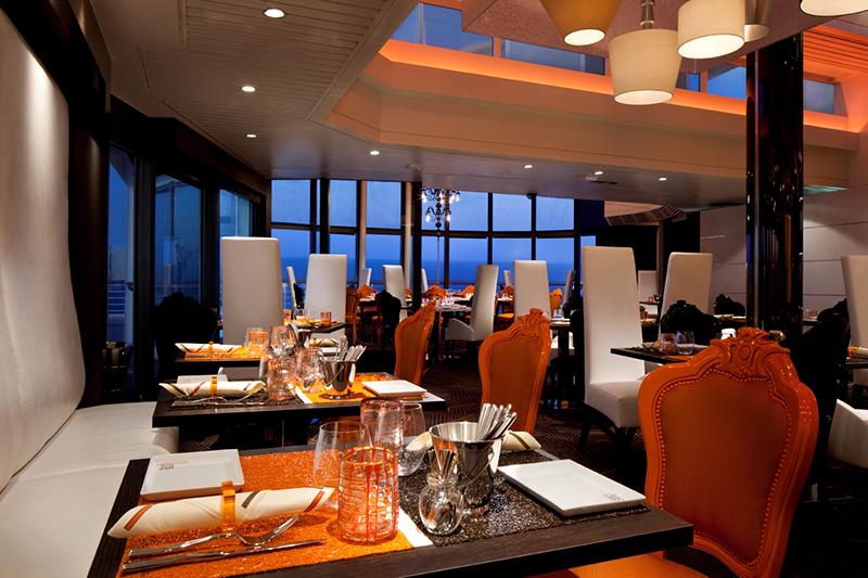 Круизный лайнер Celebrity Reflection - Эксклюзивный ресторан Qsine