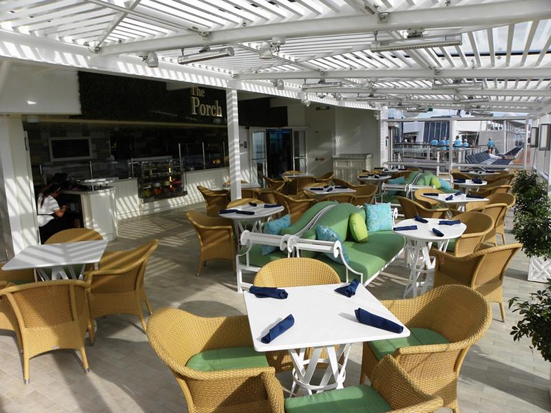 Круизный лайнер Celebrity Reflection - Ресторан-закусочная The Porch
