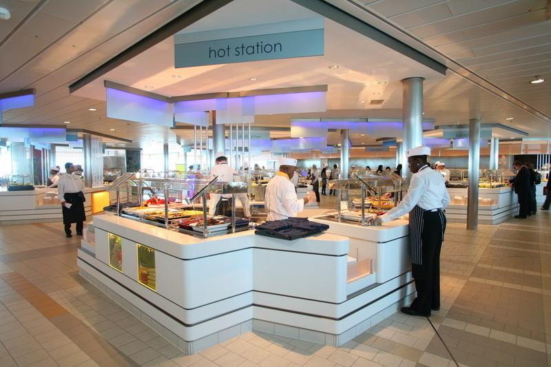 Круизный лайнер Celebrity Silhouette - Кафе Oceanview (Oceanview cafe)