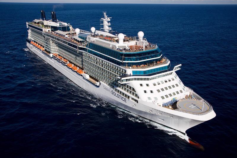 Круизный лайнер Celebrity Solstice - Внешний вид лайнера (Exterior)