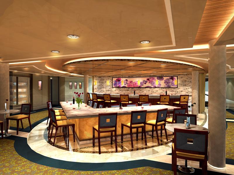 Круизный лайнер Celebrity Xpedition - Дегустационный зал (Galleria tasting)