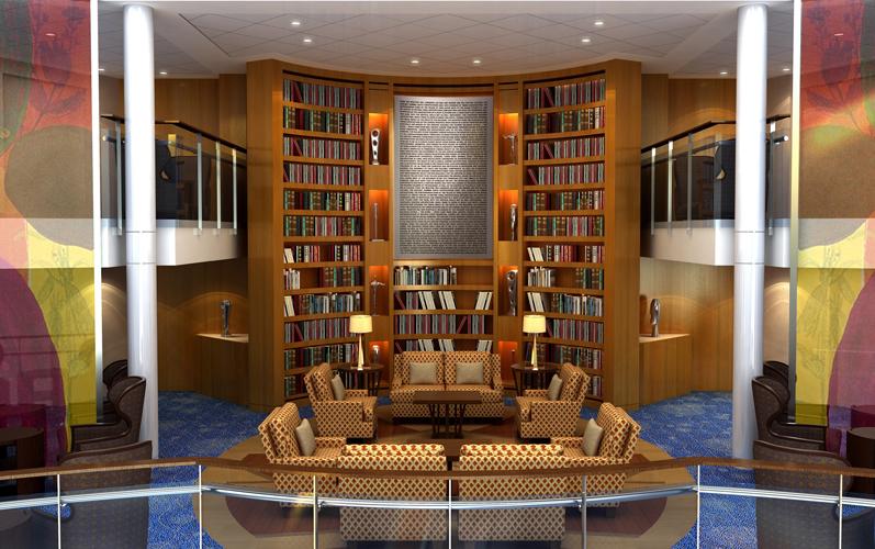 Круизный лайнер Celebrity Xpedition - Библиотека (Library)