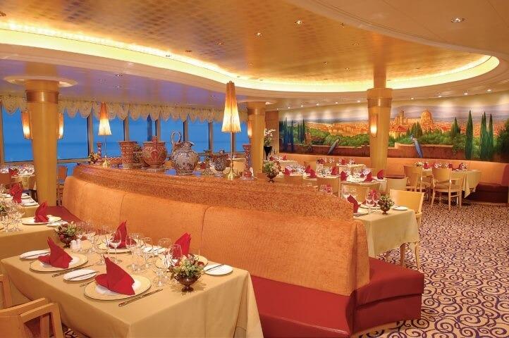 Круизный лайнер Brilliance of the Seas - Ресторан итальянской кухни Portofino (Portofino)