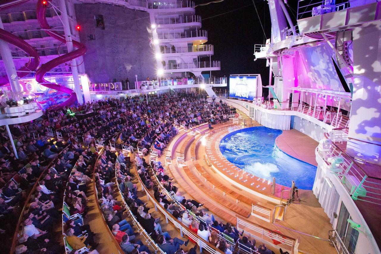 Круизный лайнер Symphony of the Seas - АкваТеатр