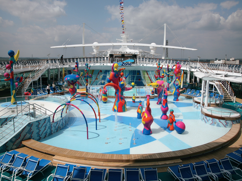Круизный лайнер Freedom of the Seas - Зона Водных развлечений (H2O zone)